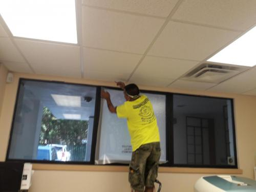 office window tinting